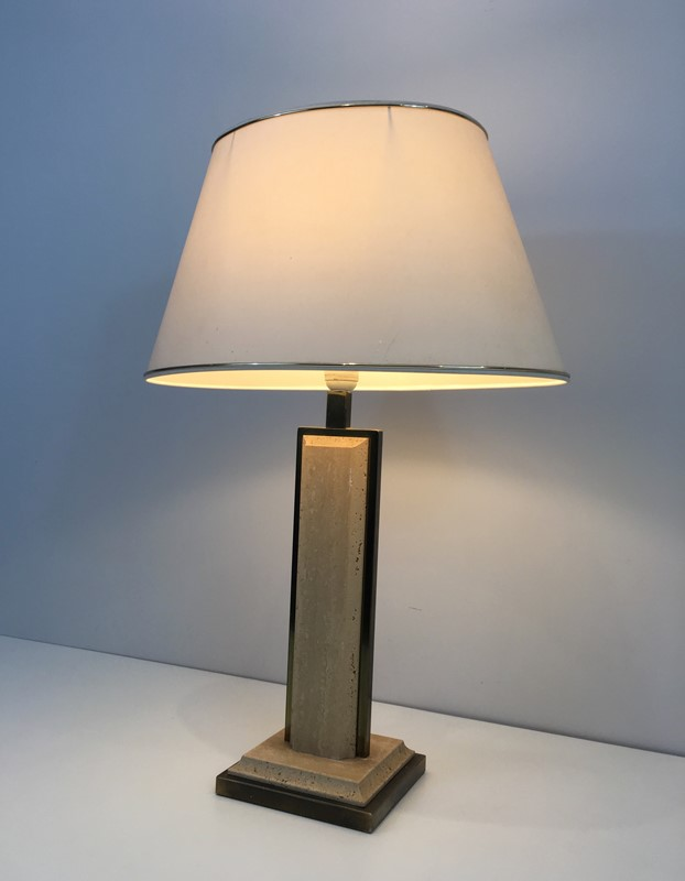Travertine and Gilt Chrome Table Lamp. French-barrois-antiques-50s-37463-main-637285034248781199.jpg