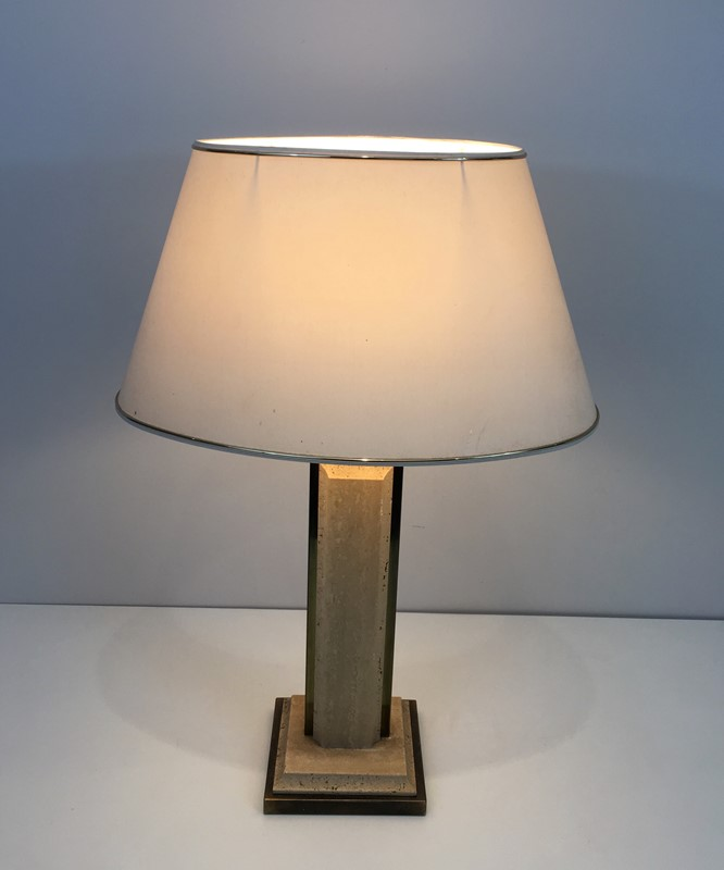 Travertine and Gilt Chrome Table Lamp. French-barrois-antiques-50s-37464-main-637285034272373214.jpg