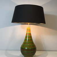Ceramic Table Lamp with Greek Key Decors