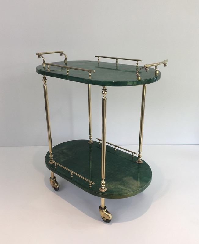 Aldo Tura. Goatskin and Gilt Metal Drinks Trolley-barrois-antiques-50s-39364-main-637387189593207438.jpg