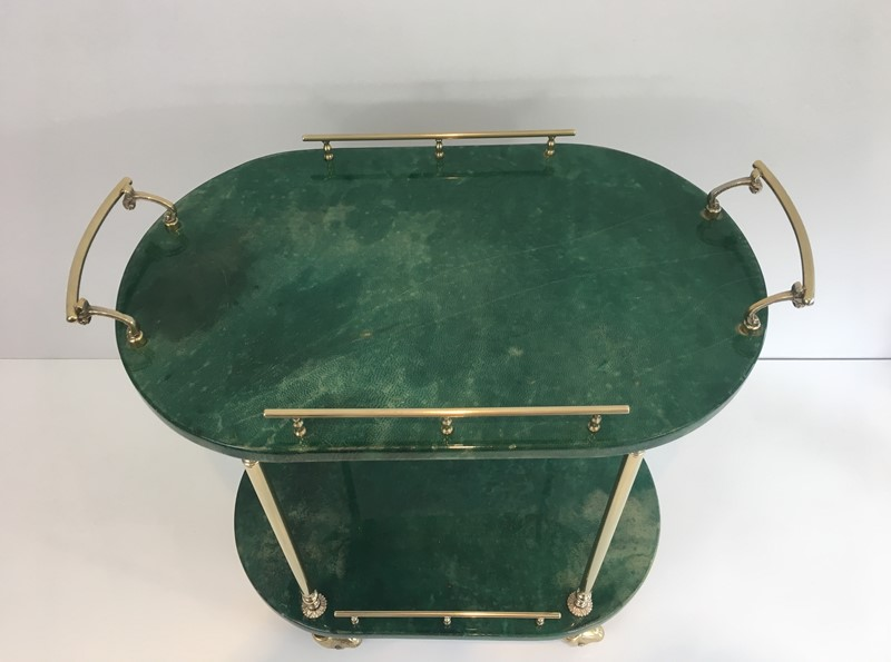 Aldo Tura. Goatskin and Gilt Metal Drinks Trolley-barrois-antiques-50s-39366-main-637387189631801245.jpg