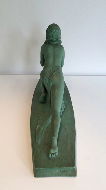 Art Deco terracotta woman with a bird. Marked-barrois-antiques-AD-572_main_636299177786737586.jpg