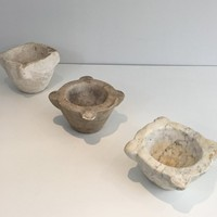 Set of three 18th century Stone Mortars