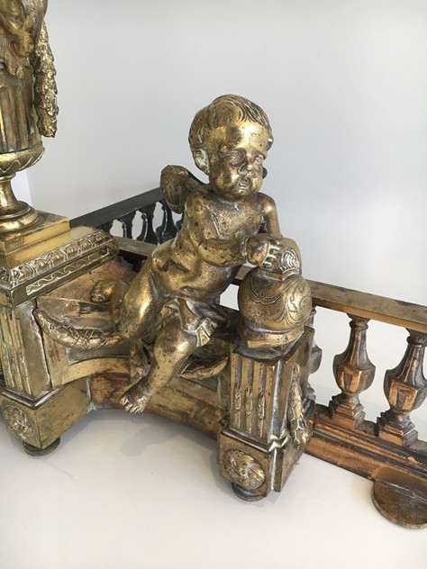Beautiful chiseled bronze andirons with cherubs. -barrois-antiques-FP-455_main_636323309599559624.jpg