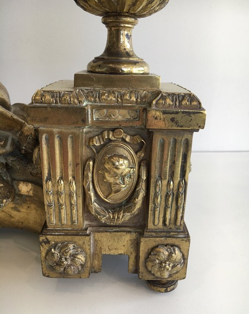 Beautiful chiseled bronze andirons with cherubs. -barrois-antiques-FP-457_main_636323309808922360.jpg
