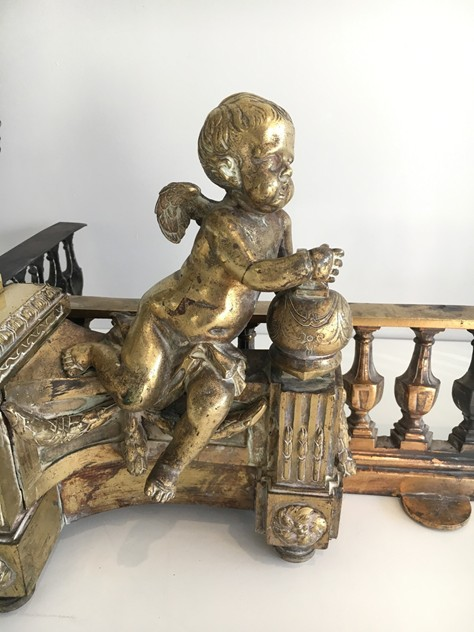 Beautiful chiseled bronze andirons with cherubs. -barrois-antiques-FP-458_main_636323309946365408.jpg