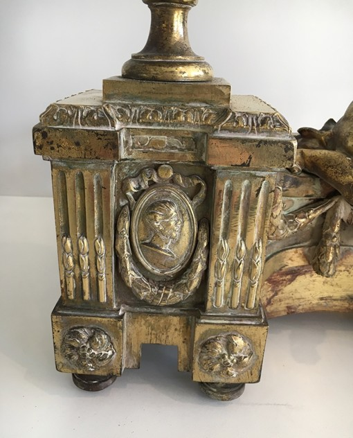 Beautiful chiseled bronze andirons with cherubs. -barrois-antiques-FP-461_main_636323310452143344.jpg