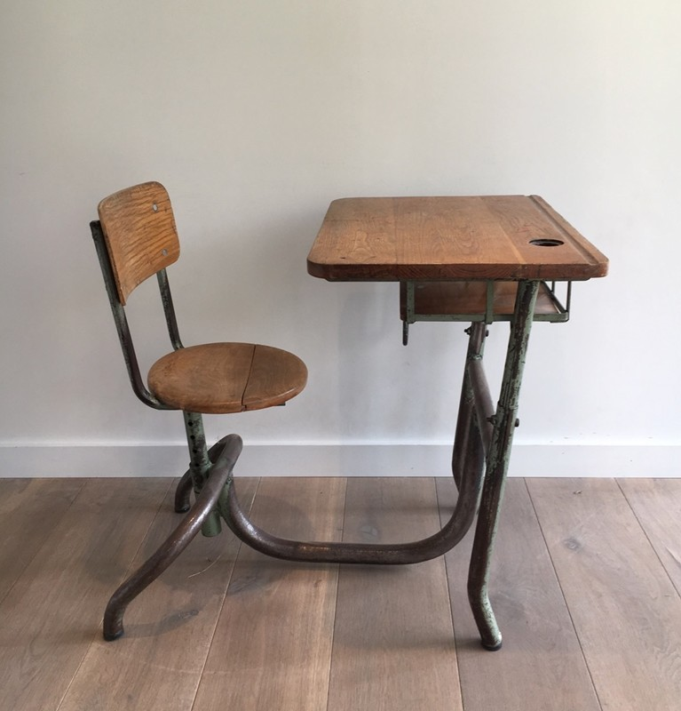 Industrial Steel and Wood Children Desk. 1900's-barrois-antiques-I-609-main-636619002468413333.jpg