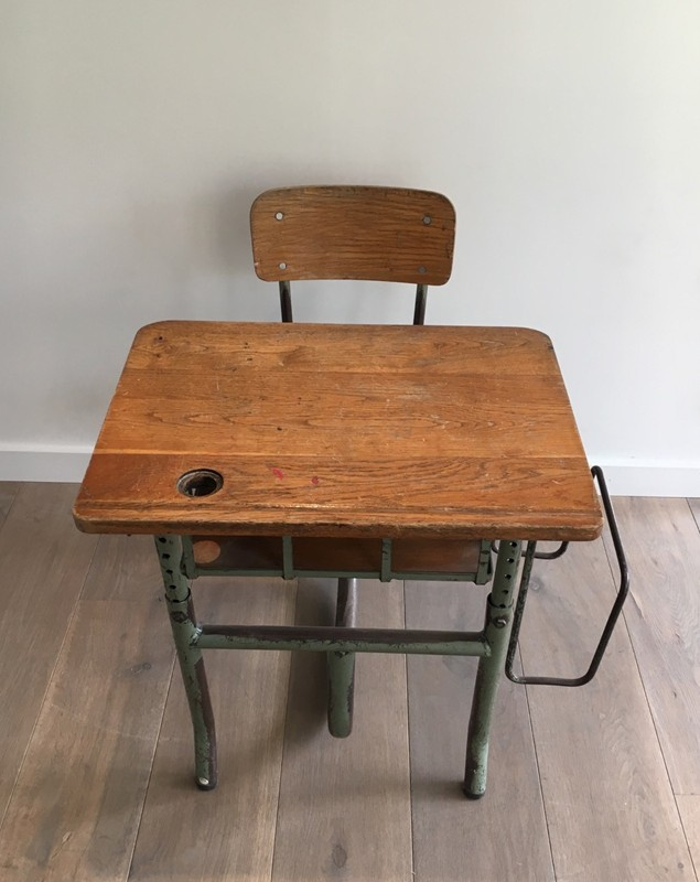 Industrial Steel and Wood Children Desk. 1900's-barrois-antiques-I-614-main-636619002679648165.jpg