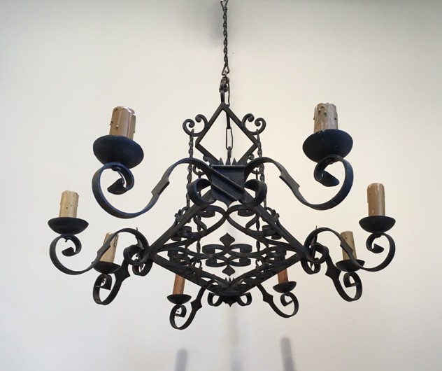 Large Wrought Iron Chandelier Circa 1950 -barrois-antiques-IC-1838_main_636440188443528569.jpg