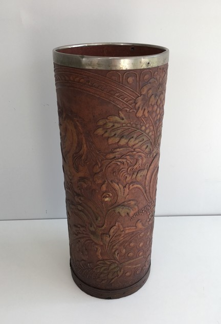 Leather Umbrella Stand with Unicorn -barrois-antiques-O-3_main_636565499817499742.JPG