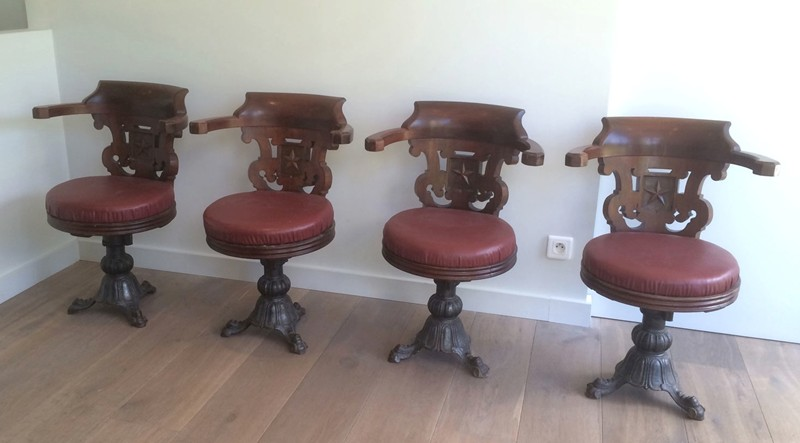 Exceptional and very Rare Set of 4 Mahogany -barrois-antiques-S-1384-main-636711499009086947.jpg