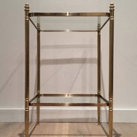Neo-classical Brass Side Table