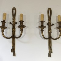 Louis the 16th Style Bronze Wall Sconces