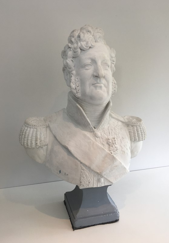 Important Louis-Philippe Plaster Bust. French-barrois-antiques-d-2334-main-637231656744533572.JPG