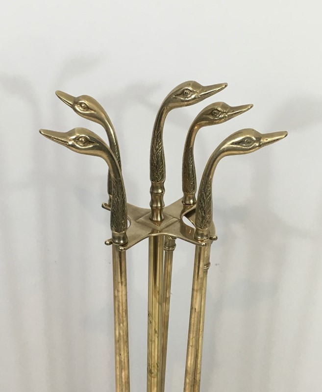 Neoclassical Fire place Tools In Brass With Duck -barrois-antiques-fp-1007-main-636831596541956453.jpg