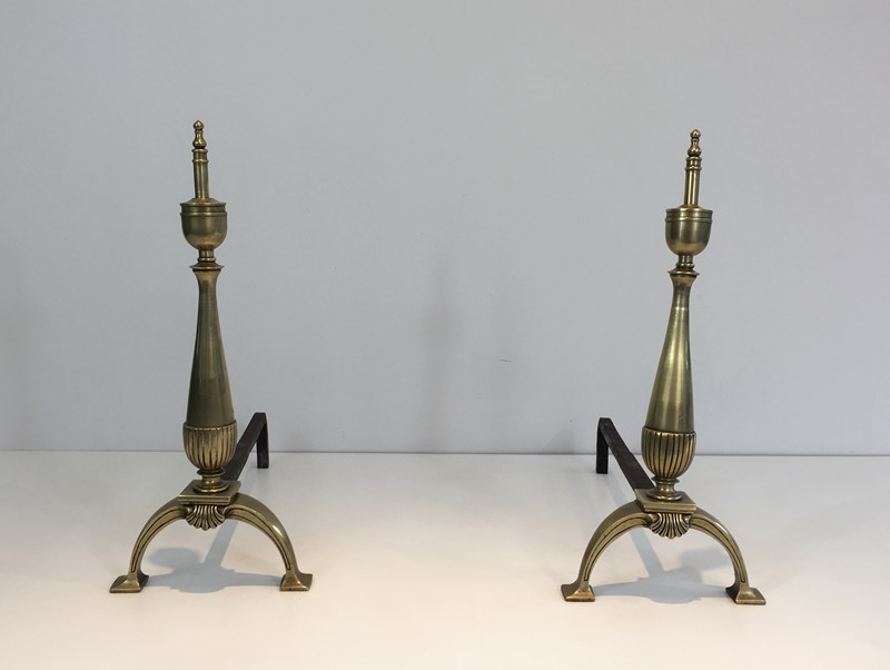 Pair of brass and wrought iron Andirons-barrois-antiques-fp-1011-main-636844402633563216.JPG