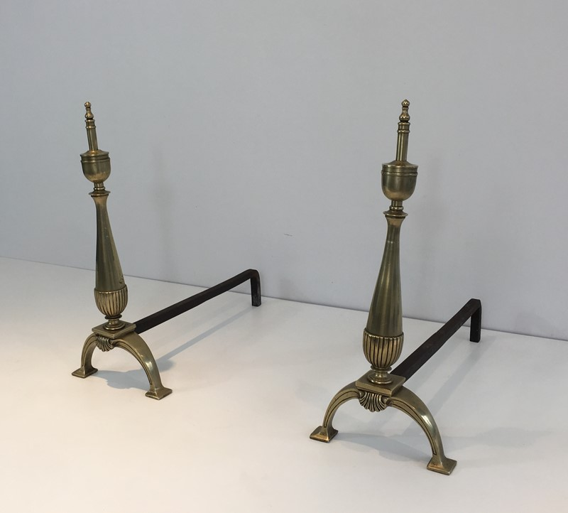 Pair of brass and wrought iron Andirons-barrois-antiques-fp-1022-main-636844403116244078.JPG