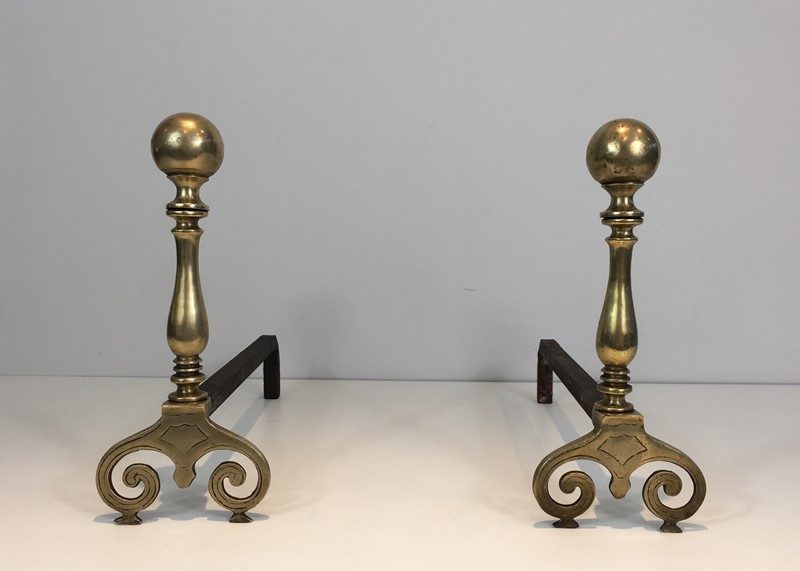 Pair of Bronze and Iron Andirons. -barrois-antiques-fp-1069-main-636842842424520104.JPG