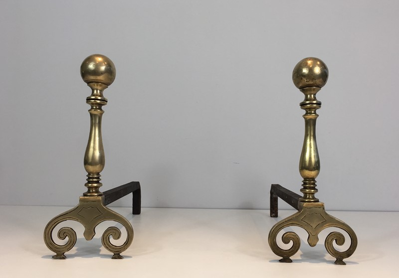 Pair of Bronze and Iron Andirons. -barrois-antiques-fp-1072-main-636842843108993170.JPG
