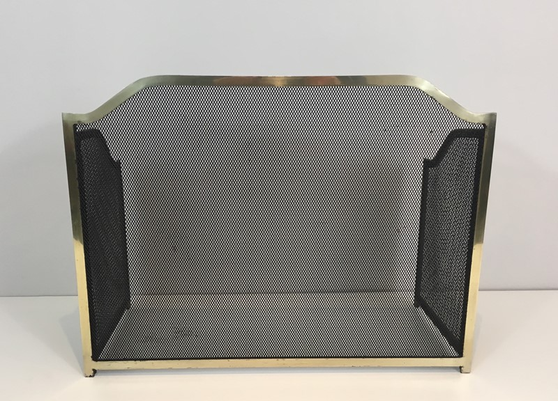 Gild Metal, Brass and Grilling Fire Place Screen.-barrois-antiques-fp-1271-main-636842804860626197.JPG