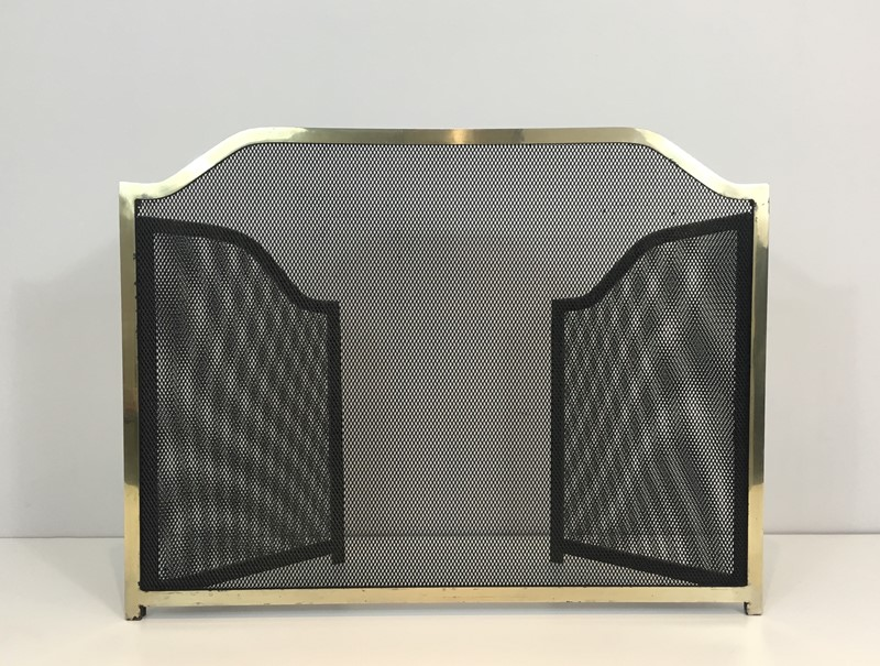 Gild Metal, Brass and Grilling Fire Place Screen.-barrois-antiques-fp-1272-main-636842804885313429.JPG