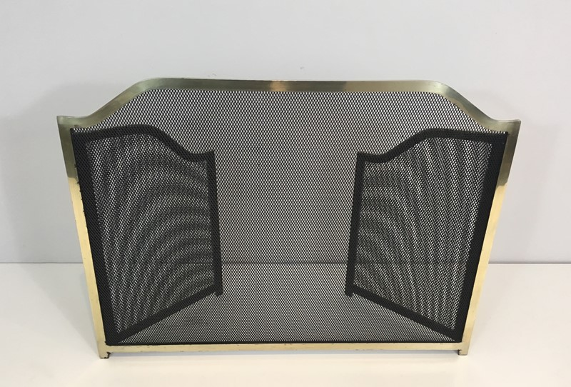 Gild Metal, Brass and Grilling Fire Place Screen.-barrois-antiques-fp-1277-main-636842805023593975.JPG