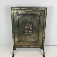 Arts & Crafts Brass and Iron Fire Place Screen.