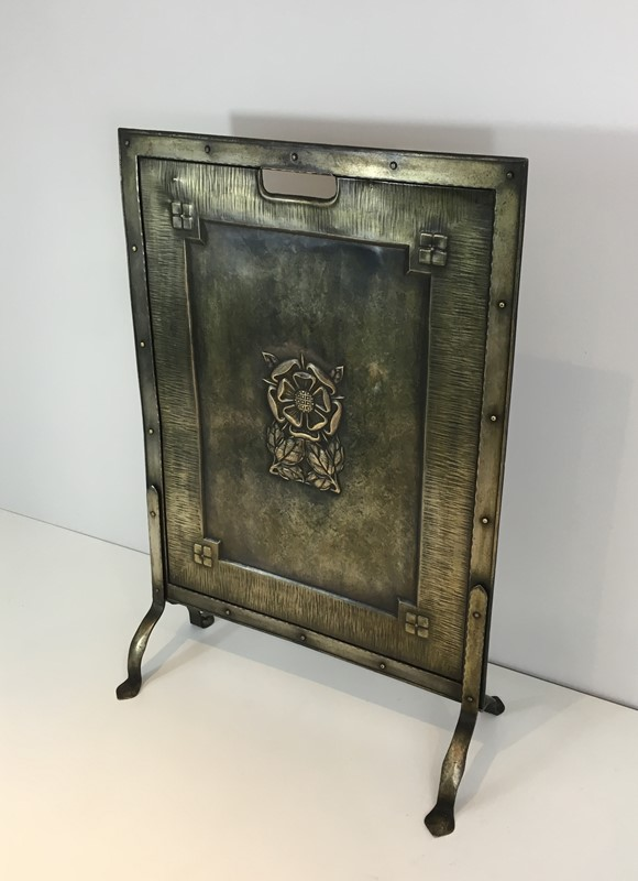 Arts & Crafts Brass and Iron Fire Place Screen. -barrois-antiques-fp-1482-main-636845242866021523.JPG