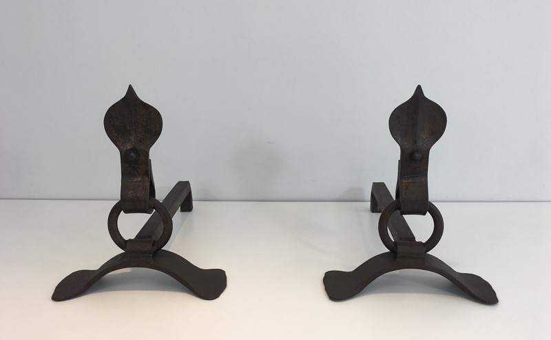 Pair of Modernist Wrought Iron Andirons. French-barrois-antiques-fp-1894-main-636842957727008228.JPG