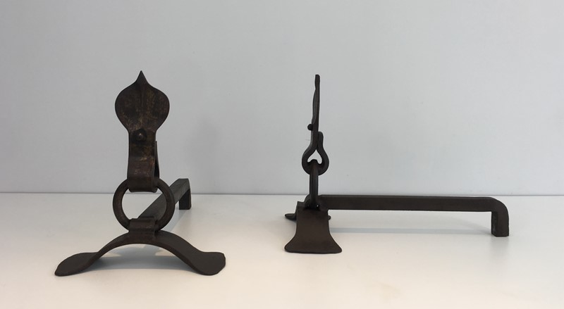 Pair of Modernist Wrought Iron Andirons. French-barrois-antiques-fp-1898-main-636842958464044423.JPG