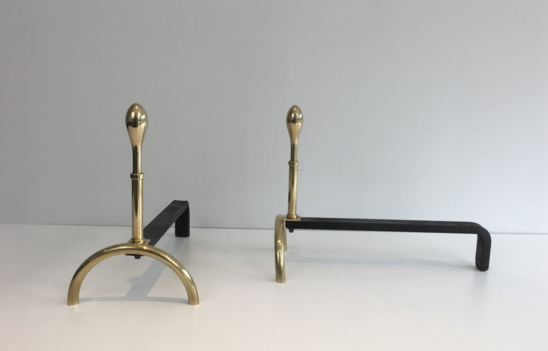 Pair of Neoclassical Style Brass and Iron Andirons-barrois-antiques-fp-2541-main-637247148897279981.JPG