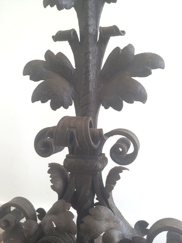 Beautiful pair of wrought iron andirons. -barrois-antiques-fp-350-main-636844387609180712.jpg