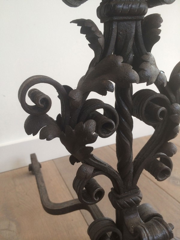 Beautiful pair of wrought iron andirons. -barrois-antiques-fp-358-main-636844387664805306.jpg