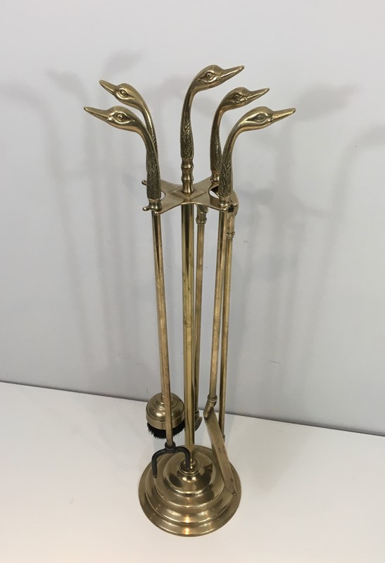 Neoclassical Fire place Tools In Brass With Duck -barrois-antiques-fp-989-main-636831595538090849.jpg