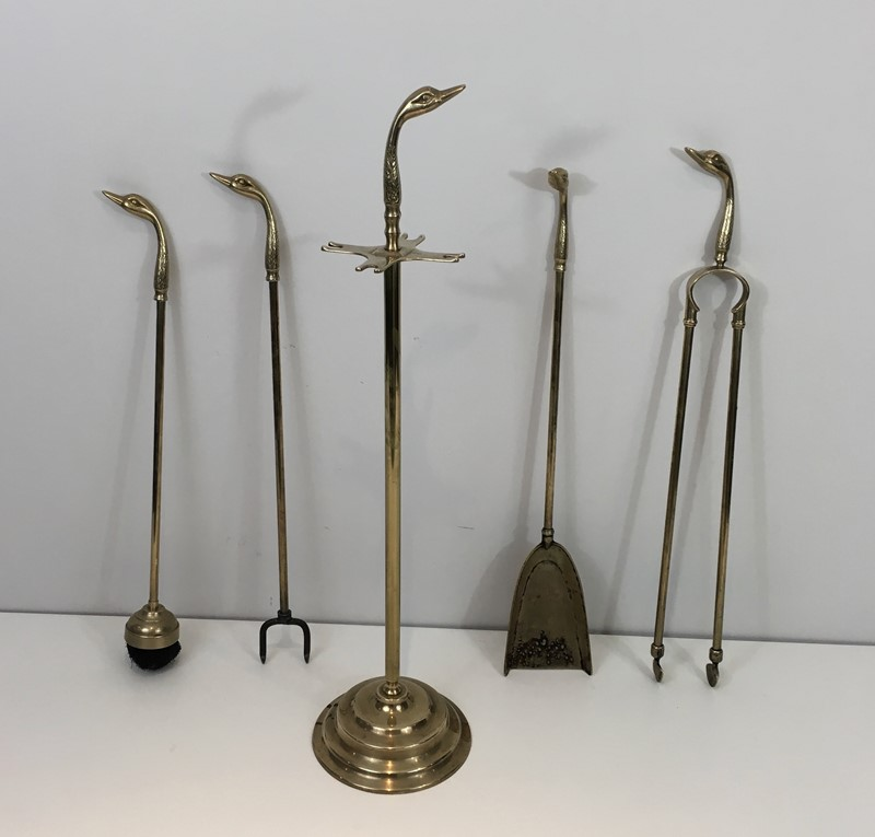 Neoclassical Fire place Tools In Brass With Duck -barrois-antiques-fp-993-main-636831596241646266.jpg
