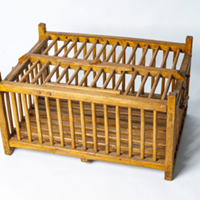 Wooden poultry transportation cage