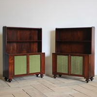 Pair of 19thC English Regency Bookcases