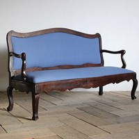 18th Cent French Chestnut Sofa/ Bench from Bordeau