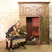 18thC Swiss Painted Cupboard