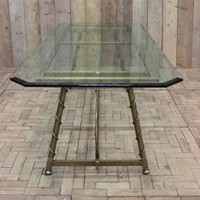 1940s French Dining Table in Brass