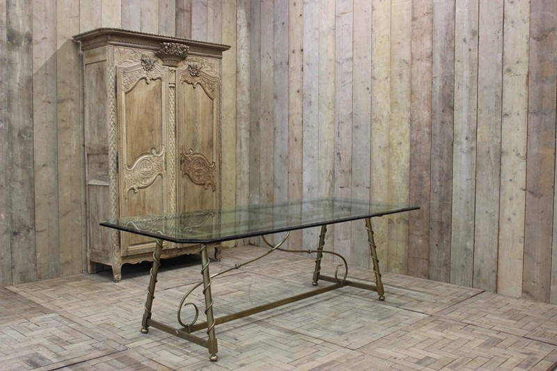 1940s French Dining Table in Brass-brownrigg-1940s-french-dining-table-in-brass-48-4-main-636579147471547694.jpeg