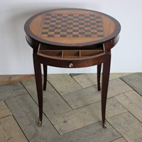 1940s French Mahogany & Satinwood Games Table
