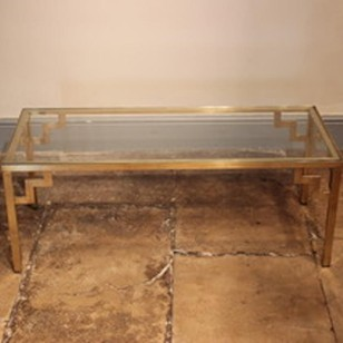 1970s Brass and Glass Coffee table