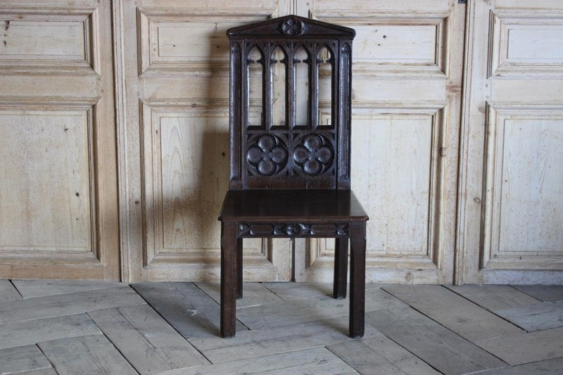 19th Cent English Gothic Hall Chair in Oak-brownrigg-19th-cent-english-gothic-hall-chair-in-oak-1556-l-main-636792642423904513.jpeg