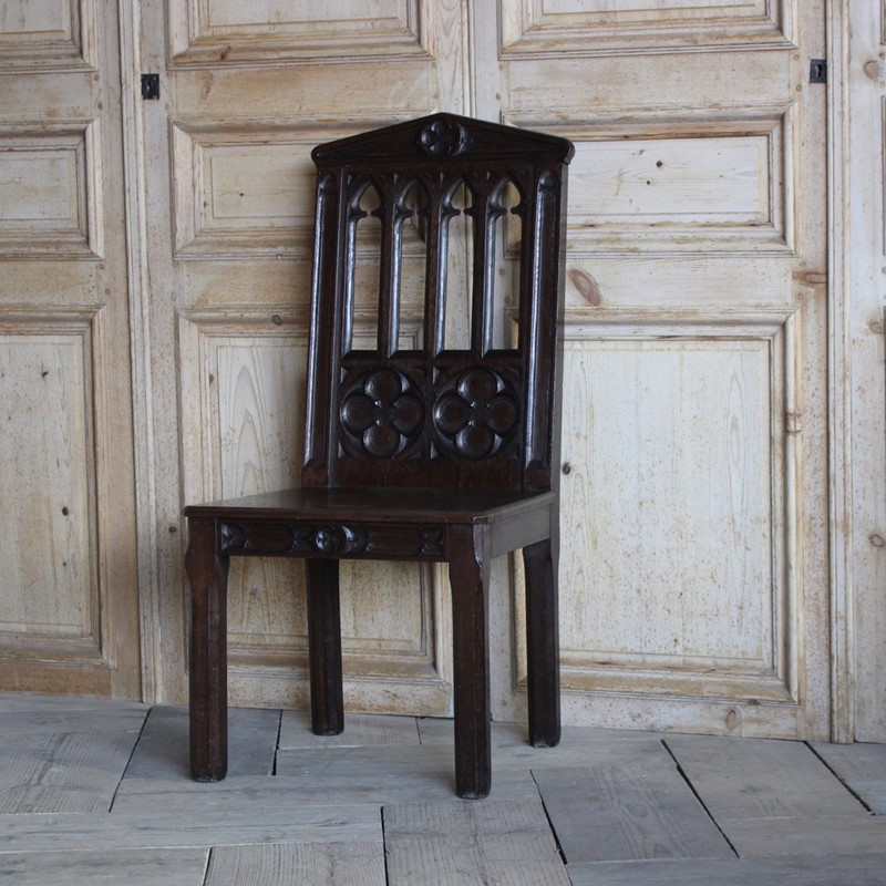 19th Cent English Gothic Hall Chair in Oak-brownrigg-19th-cent-english-gothic-hall-chair-in-oak-1556-thex-main-636792641677865444.jpeg