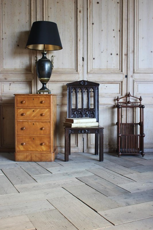 19th Cent English Gothic Hall Chair in Oak-brownrigg-19th-cent-english-gothic-hall-chair-in-oak-1656-4-main-636792642428592206.jpeg