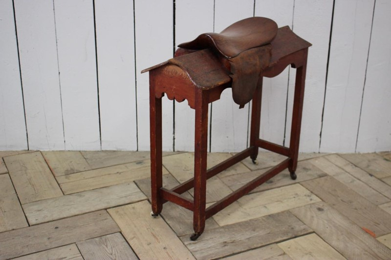 19th Century English Saddle Rack Mounting Block -brownrigg-19th-century-english-saddle-rack-mounting-block-from-outfitters-2521-1-main-637378387623301061.jpeg