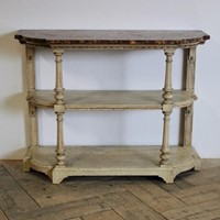 19th C English Three Tier Bleached Oak Buffet