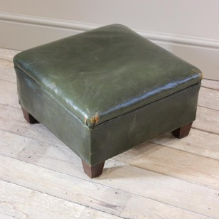 1950s French Leather Stool